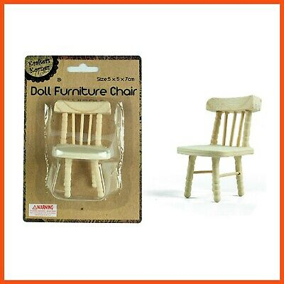 12 x DOLL HOUSE FURNITURE CHAIR 7 cm | Mini Wooden Doll House Furniture Hobbies