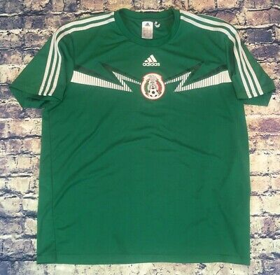 814b938e1 Adidas Mexico National Soccer Team Training Jersey Green Mens XL B+  Condition