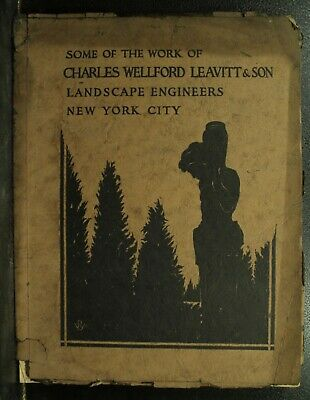 rare antique vintage old Architecture book Charles Wellford Leavitt landscape
