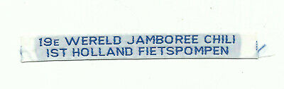 Scout 19Th World Jamboree 1998-99 Chili Woven Strip Holland Contingent Badge Wj