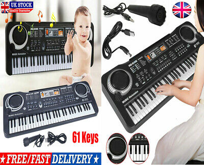 61 Keys Digital Electronic Music Keyboard & Microphone Electric Piano Organ Set