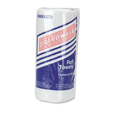 Boardwalk 6272 Paper Towel Rolls, Perforated, 2-Ply, White 30 Rolls of 85
