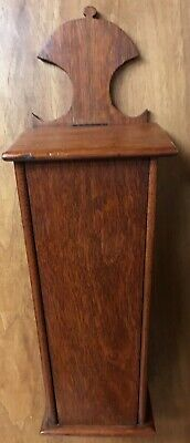 Antique 1700s Georgian Colonial Carved Flame Grain Mahogany Pipe or Candle Box
