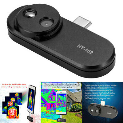 Mobile Phone External Infared Thermal Imager Handhold Metal Black With Adapter