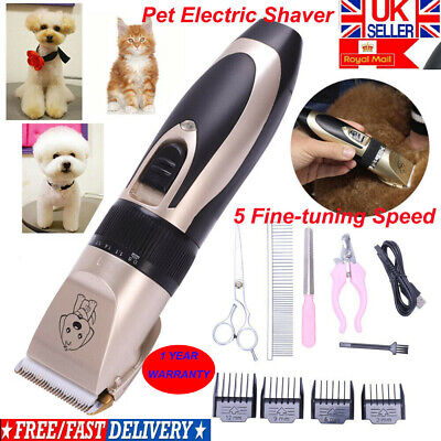 Electric Low noise Animal Pet Dog Hair Razor Grooming Clipper Trimmer Shaver Kit