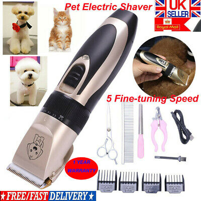 Pet Dog Clipper Grooming Trimmer Animal Hair Professional Electric Shaver Kit AN