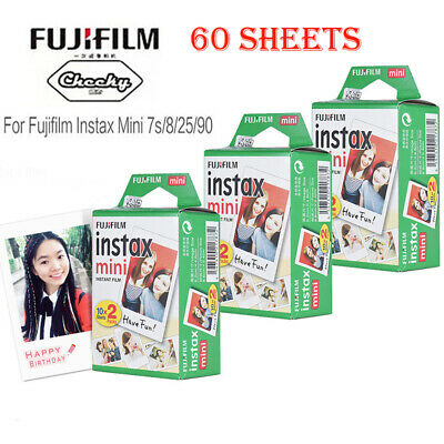 Fujifilm Instax 60 Sheets Photo Paper Film Instant Print for Mini 7s/8/25/9/90