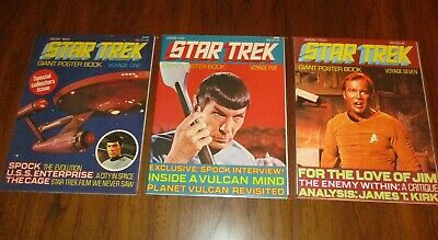 Star Trek Giant Poster Book Voyage #1, 5, 7  (Lot of 3)  Vintage 1970's