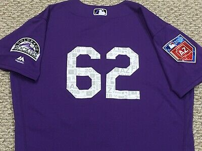 dd4adbafb ALMONTE  62 size 44 SPRING TRAINING 2018 Colorado Rockies game used jersey  MLB