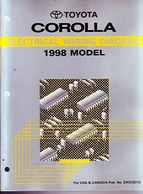 1998 toyota corolla shop service repair manual electrical wire wiring  diagram