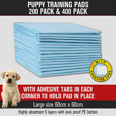 Puppy Pet Dog Cat Training Pads Absorbent Indoor Toilet 200pk/400pk 60 x 60cm👍