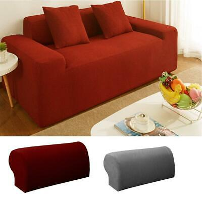 2PCS Polyester Furniture Armrest Covers Sofa Couch Chair Arm Protectors Stretchy