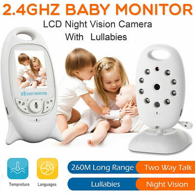 2.4GHZ LCD Baby Monitor Wireless Audio Video Night Vision 2 Way Talk Safe Camera