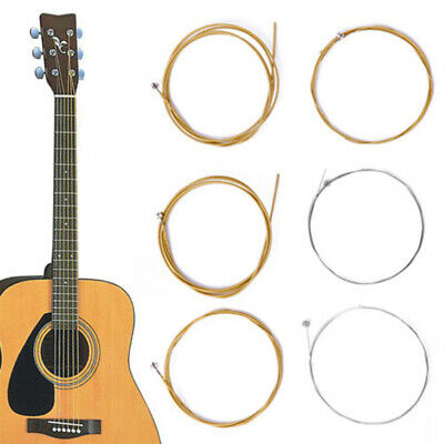 6Pcs/1Set Bronze Steel Strings Warm Balanced Tone for Acoustic Guitar 150XL