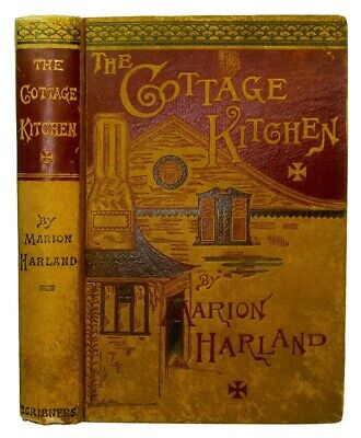 Antique Cookbook COTTAGE COOKERY 1883 Victorian Recipes Vintage MARION HARLAND