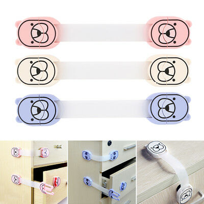 Cupboard Cabinets Strap Locks Child/Baby Pet Proof Safety Latches Adhesive Lock