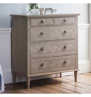 Frank Hudson French Colonial Martinique 5 Drawer Chest Of Drawers