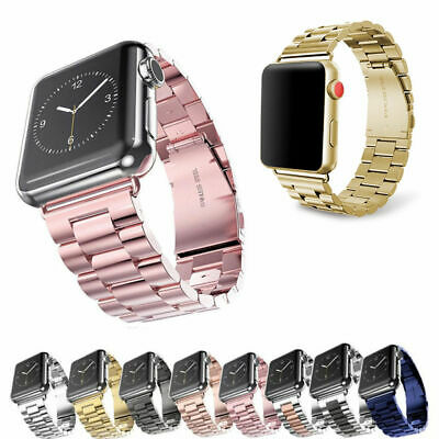 Stainless Steel Wrist iWatch Band Strap for Apple Watch Series 3 2 1 38mm 42mm