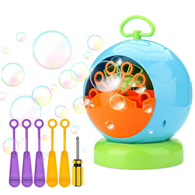 AGPtEK Portable Automatic Bubble Machine Toy for Indoor & Outdoor Kids Party DJ