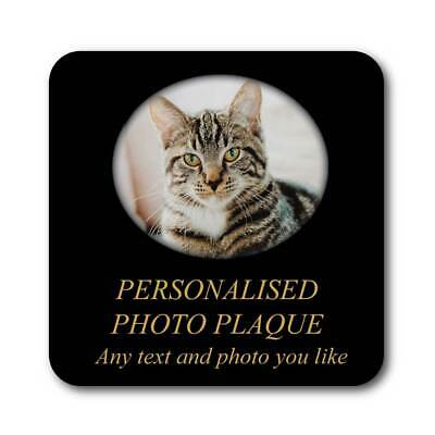 Outdoor Photo Memorial Plaque Pet Grave Sign,In Memory Photo Grave Marker Plaque