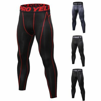 Men's Sport Compression Pants Workout Sweatpants Running Skin Tights Trousers