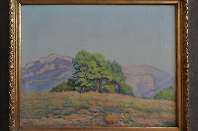Ancien Tableau IMPRESSIONNISTE 1930 SERESIA GIVERNY Gt MONET Montagne Se BEAUME