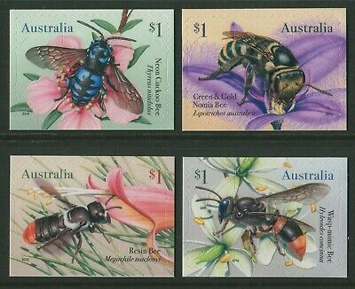 Native Bees 2019 - Mint Ex-Booklet Self-Adhesives (Bb)