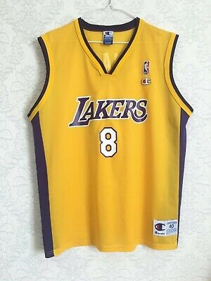 934a5b02c94 Vtg Champion NBA Los Angeles LA Lakers KOBE BRYANT  8 Jersey Swingman Mens  40
