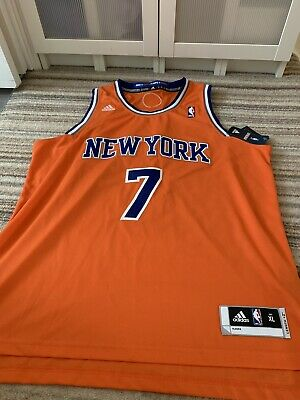 aba9689d3b32 Adidas Men s Swingman New York Knicks Carmelo Anthony Jersey - Orange Sz XL  NBA