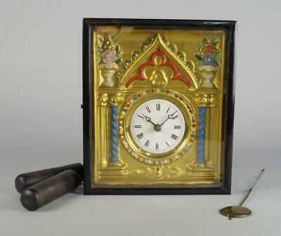 A Continental Wall Clock, Late 19th/Early 20th Century, with an Ebonised Case