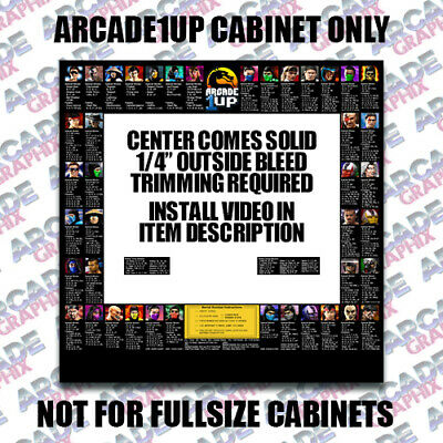 Arcade1up Mortal Kombat Arcade Cabinet Move Combo Bezel Art Graphic Decal
