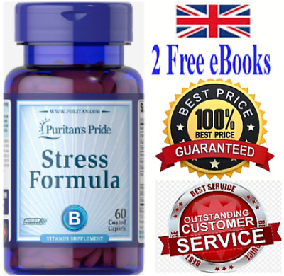 Anti Stress Tablets   Be Calm  Energy Boost Immune System  Vitamin B Complex 60