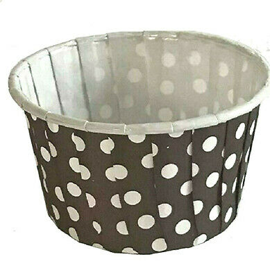Bakell™ 25 PC Set Yellow and White Polka Dot Cupcake Muffin Liners Wrappers Cups