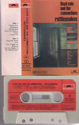 LLOYD COLE and the COMMOTIONS Rattlesnakes  RARE SPANISH  CASSETTE    SPAIN