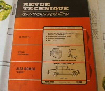 RTA revue technique automobile n° 252 ALFA ROMEO GIULIA 1967