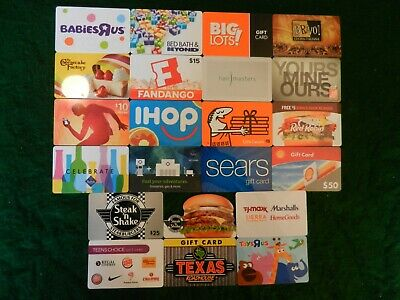 Lot Of Twenty-Two (22) All Different Collectible Only *Gift Cards*