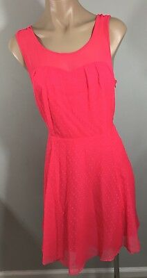 NEW Express Hot Pink Dress Sleeveless Multi Layer Tulle Size 12 NWT MSRP $88