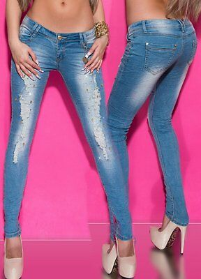 Only Donna Jeans Anca Pantaloni onlcoral SL SK DNM cre160353 NOOS SUPERLOW SKINNY NUOVO