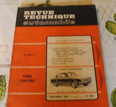 REVUE TECHNIQUE AUTOMOBILE RTA FORD CORTINA 1500 OPEL KADETT SIMCA 1000 n°283