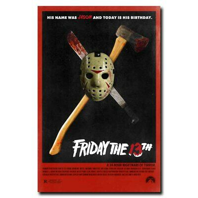 Friday the 13th 12x18 24x36inch Movie Silk Poster Art Print Wall Decoration