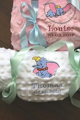 Dumbo personalised bubble blanket baby gift