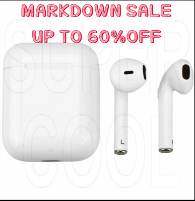 NEW Pro Grade Wireless Earbuds w/ Charging Case For Airpods Style Headphones
