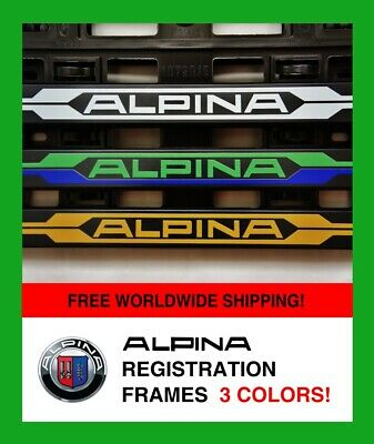 2X ALPINA BMW (3Colors) Number Plate Surrounds Holder Frame Registration Plate