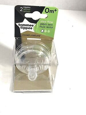 Tommee Tippee Closer to Nature Baby Bottle Feeding Nipple Replacement,