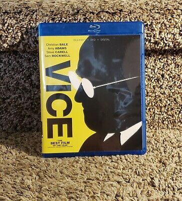 Vice Blu Ray/DvD 2 Disc Combo Pack 2019 Rated R Christian Bale Steve Carell