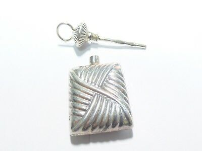 Awesome Sterling Silver Perfume Bottle Pendant- 10.32 gm