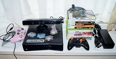XBOX 360 S Slim Console 250GB + Kinect + 13 Games + 2 Controllers -  Microsoft