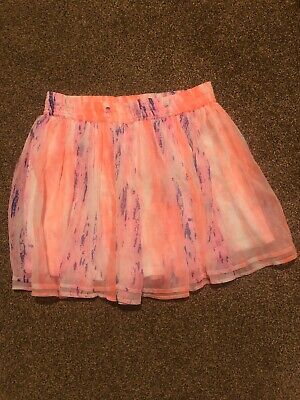 Young Dimension orange white pink skirt girls age 12-13 years