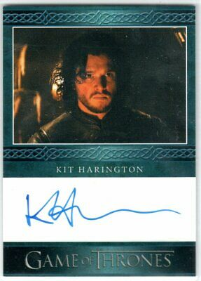 Game Of Thrones Season 5 Kit Harington As Jon Snow Blue Autograph Very Limited