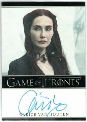 Game Of Thrones Season 5 Carice Van Houten As Melisandre Autograph Limited